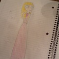 My free-hand sketch of Dakota's prom dress... - total-drama-island fan art