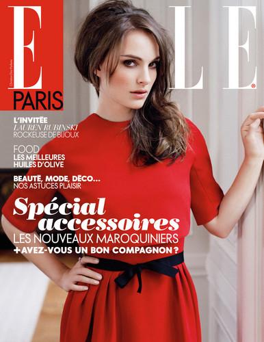 Natalie Portman covers Elle Paris