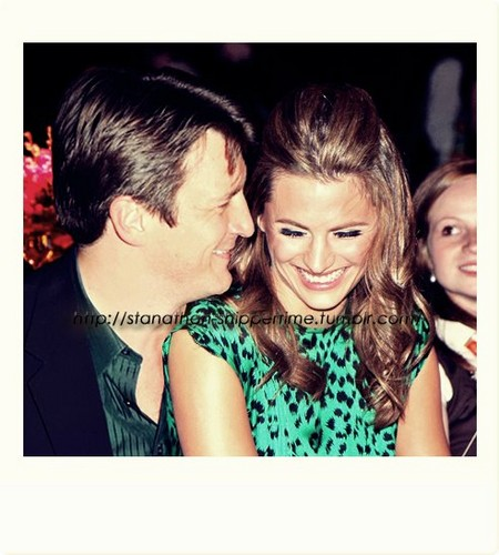 Nathan Fillion & Stana Katic wallpaper containing a portrait called Nathan Fillion & Stana Katic