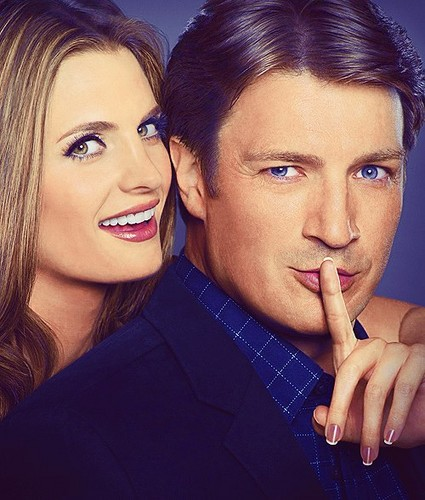 Nathan Fillion & Stana Katic fond d'écran probably containing a portrait entitled Nathan Fillion & Stana Katic
