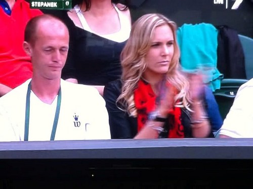 Nicole Vaidisova seems to follow her husband wherever he plays