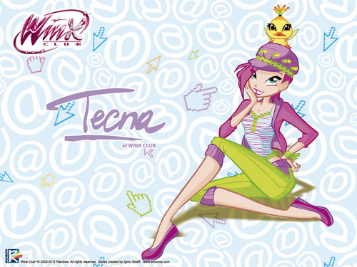 Official wallpaper 2012 Tecna Love & Pets