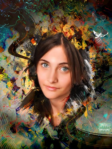 Paris Jackson Detailed Artwork (@ParisPic)