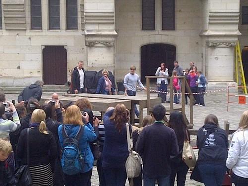 Pierrefonds: Courtyard (Bradley Mum and Tom)