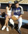 Playing Baseball - david-and-courteney-cox-arquette photo