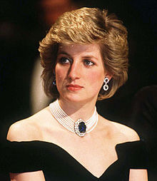 The 80s wallpaper with a portrait entitled Princess Diana