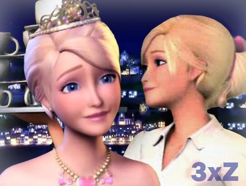 Princess Tori with Blair as waitress