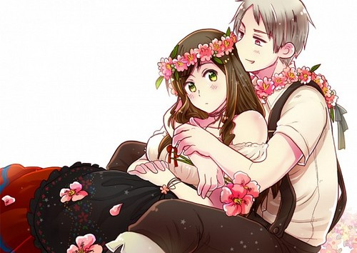 hetalia - axis powers - axis powers wallpaper with a bouquet called Pruhun