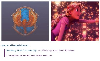 Rapunzel is in Ravenclaw House