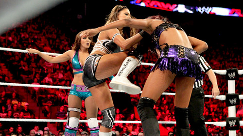 WWE Layla Hintergrund possibly with a hip boot titled Raw Digitals 9/10/12