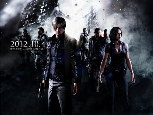 Resident Evil wallpaper with a fountain titled Resident Evil 6