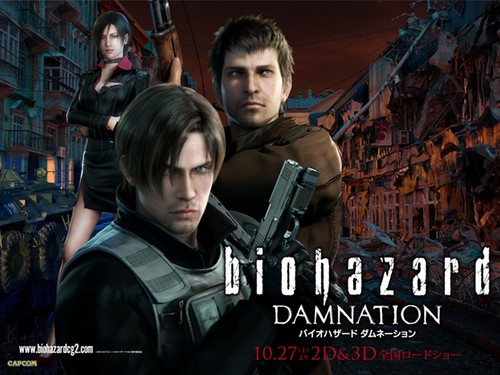 Leon Kennedy wallpaper with a rifleman, a green beret, and a navy seal titled Resident Evil Damnation Movie
