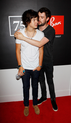SEP 13TH - HARRY AT रे BAN'S 75TH ANNIVERSARY PARTY