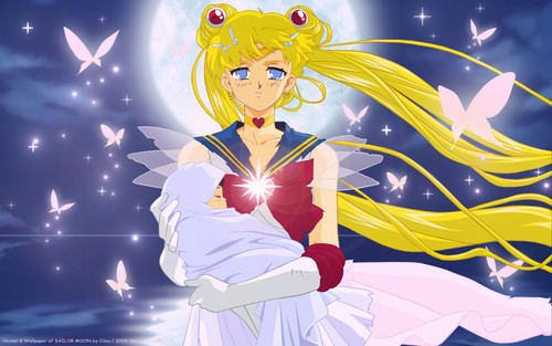 Sailor Moon and Hotaru - sailor-moon Wallpaper