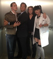 Sean Murray, Michael Weatherly, Diane Neal and Pauley Perrette in NCIS elevator - sean-murray photo