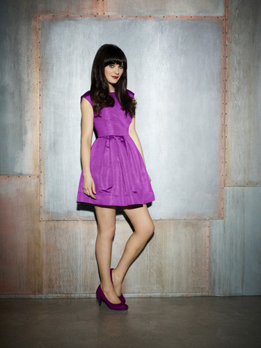 New Girl Hintergrund possibly with a cocktail dress entitled Season 2 Photoshoot: Jess