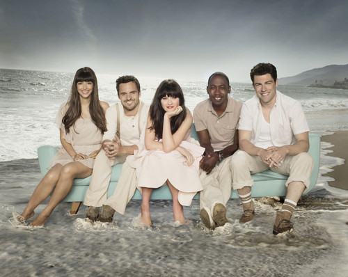 New Girl fond d'écran probably containing a baigneur, baigneuse entitled Season 2 Photoshoot