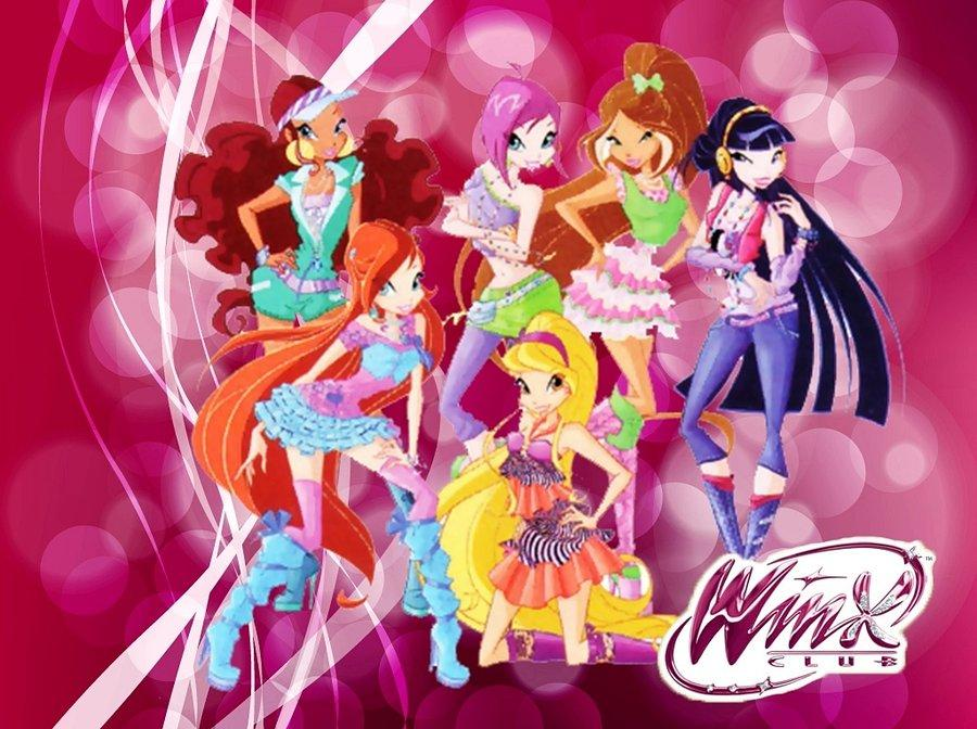 The Winx Club Season 5: Casual Outfits Wallpaper