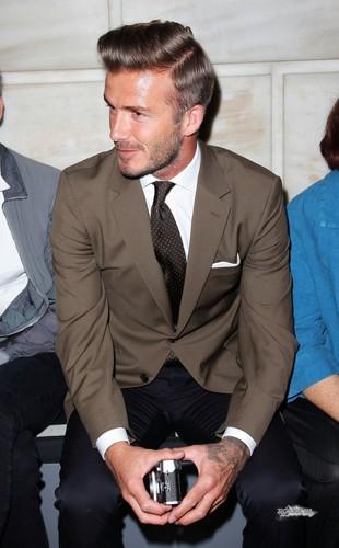 Sept. 9th - NY - David at the Victoria Beckham Spring 2013 presentation