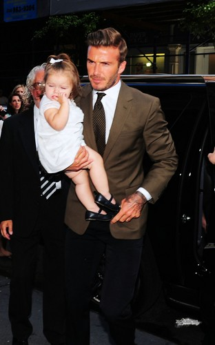 Sept. 9th - NY - The Beckhams at Balthazar restaurant