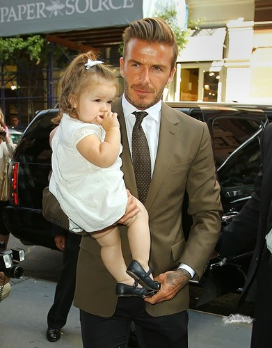 Sept. 9th - NY - The Beckhams at Balthazar restaurant