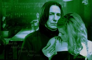 Severus Snape wolpeyper with a portrait titled Severus Snape & Hermione Granger