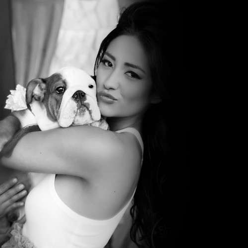Shay Mitchell and her dog 02