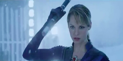 Sienna as Jill Valentine in Resident Evil Retribution
