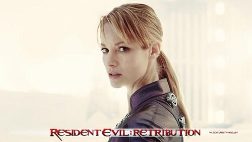 Sienna as Jill Valentine in Resident Evil Retribution
