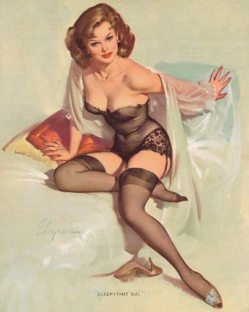 pin up girl wallpaper with skin titled Sitting Pretty
