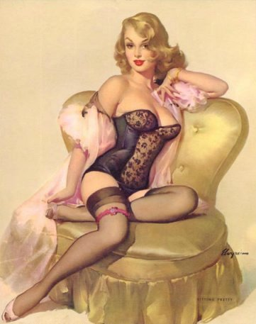 Pin Up Girls wallpaper probably containing a bustier, a leotard, and attractiveness titled Sitting Pretty