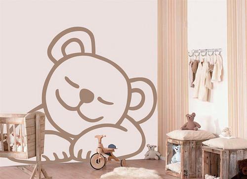 Sleeping Baby menanggung, bear dinding Sticker
