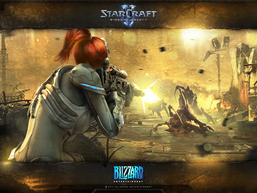 Group of Starcraft 2 Terran Fondo