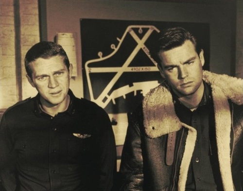 Steve McQueen and Robert Wagner