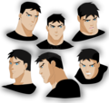 Superboy/Conner's facial expressions - young-justice fan art