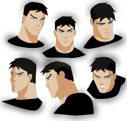 in young justice wallpaper probably containing a ski mask titled Superboy/Conner's facial expressions