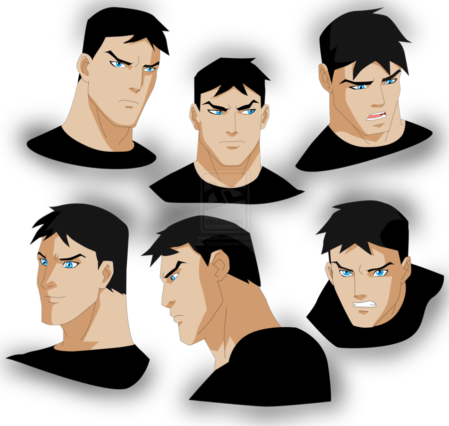 Superboy/Conner's facial expressions