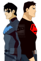 Superboy and Nightwing - young-justice fan art