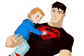 Superboy and baby - young-justice fan art