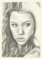 Syrena the mermaid, drawing by Jenny Jenkins