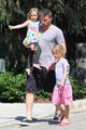 The Afflecks in a pool party at Matt Damon's house - ben-affleck-and-jennifer-garner photo