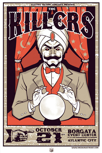 The Killers 演出, gig poster