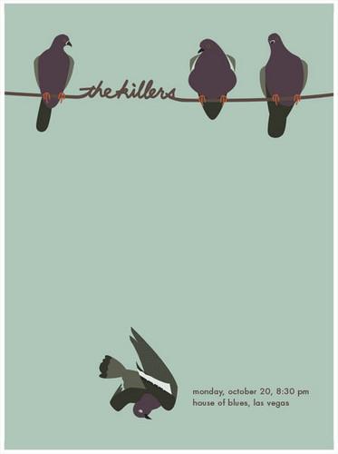 The Killers apresentação, show, gig poster