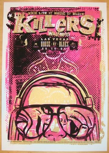 The Killers ٹمٹم, gig, لٹو poster