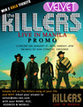 The Killers cabriolet, gig poster