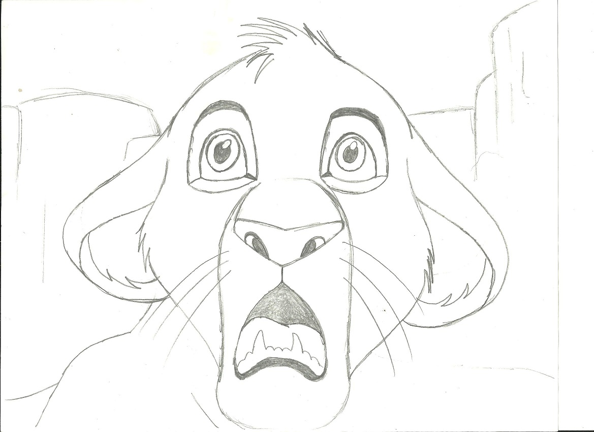 Mufasa On Pride Rock Coloring Pages