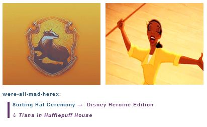Tiana is in Hufflepuff House - disney-princess Photo