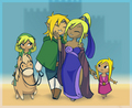 Toon Link's family - the-legend-of-zelda fan art