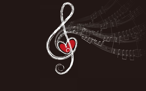 Music wallpaper entitled Treble Cleft
