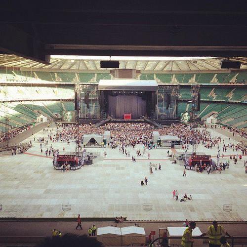 Twickenham Stadium getting ready for Gaga! (Sept. 8)